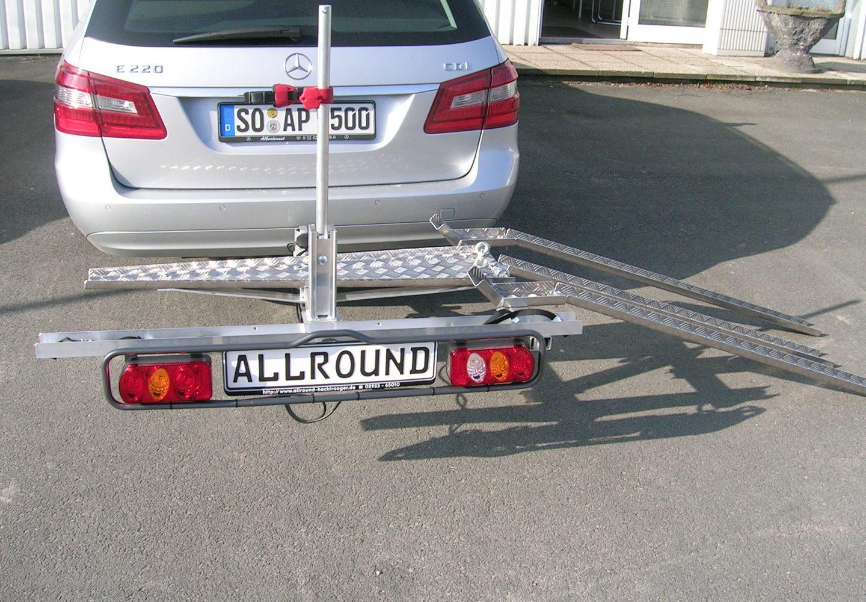 Allround Spezial-Hecklastenträger Freeliner+E-Rad für Anhängerkupplung + Auffahrrampenset