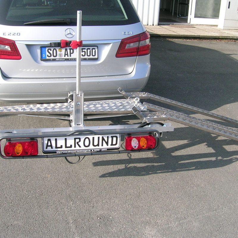 Heckträger Anhängerkupplung OrangeBike Freeliner Elektro Dreirad